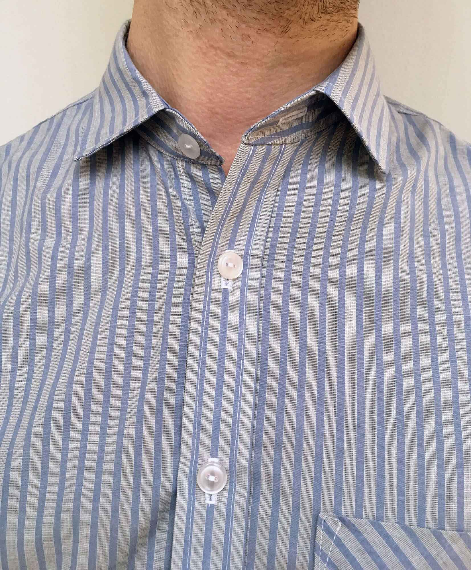 16f933711d5 I followed the Fairfield sew-along on the Thread Theory blog, and without  needing to do sleeve plackets or cuffs, I got most of the shirt done in an  ...